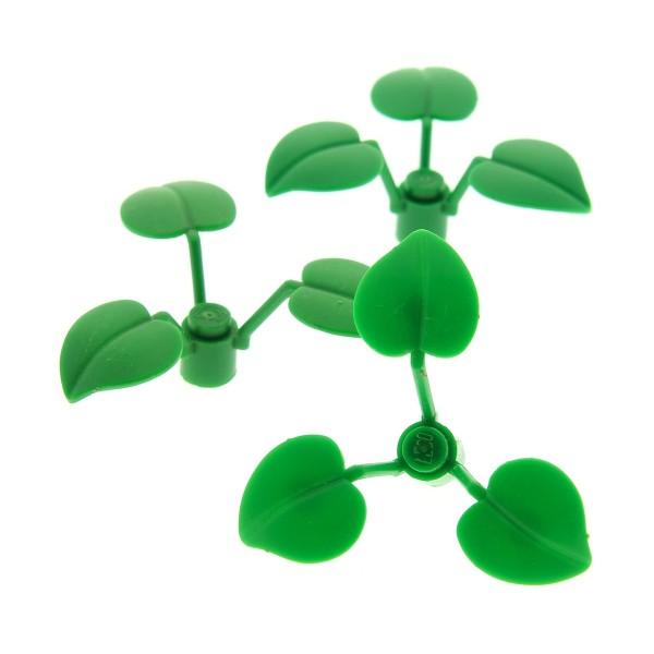 3 x Lego System Pflanze 1x1 2/3 Blumen Stiel mit 3 Blätter Blume Strauch Busch 21303 4754 4738 70618 4106895 x8 6255