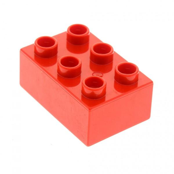1 x Lego Duplo Basic Bau Stein rot 2x3 für Set 6158 10545 5683 5816 5947 87084