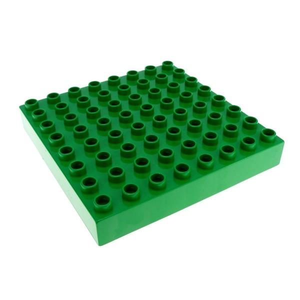 1 x Lego Duplo Bau Basic Platte grün dick 8 x 8 Noppen Puppenhaus für Set 2252 31113