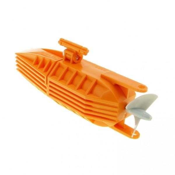 1 x Lego System Electric Motor orange 14 x 4 x 4 mit Propeller Schraube Boot Schiff Antrieb Electric geprüft 7906 7899 48064