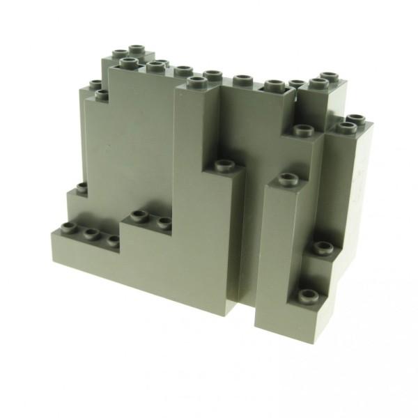 1 x Lego System Fels alt-dunkel grau 4x10x6 Felsen Brocken Stein Berg Wand Ritter Burg Castle 6082