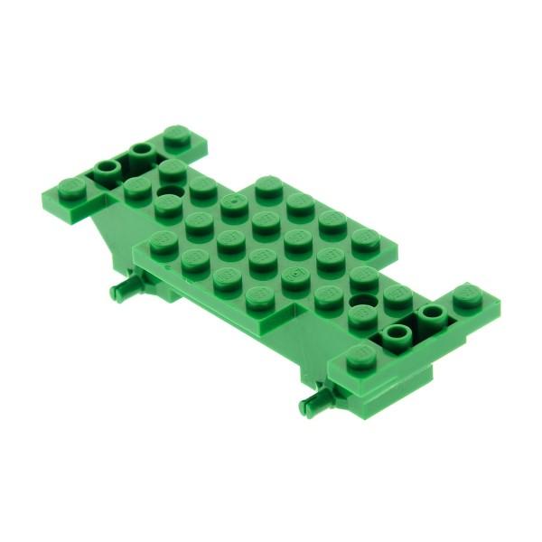 1 x Lego System Fahrgestell grün 4x10x1 LKW Unterbau Bau Platte Auto Chassis Set 9371 6423 30235