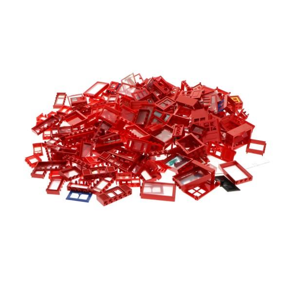 0,56 kg Lego Fenster Türen B-Ware abgenutzt rot verschiedene Formen und Größen