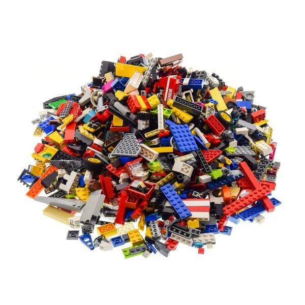 2 Kg Lego System Bau Steine ca. 1500 Teile Kiloware bunt gemischt mit Sonderteilen z.B. Fenster Platten Tiere Räder