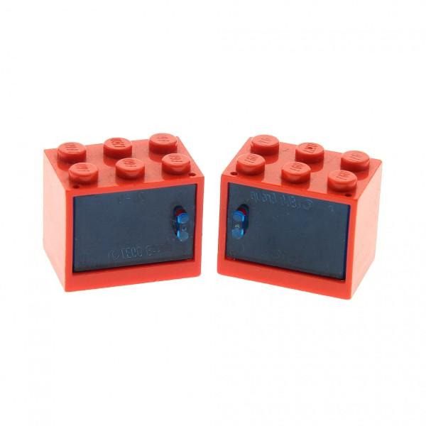 Schrank mit Schubladen 2x3x2 gelb// rot No Lego Container 4536 4532a