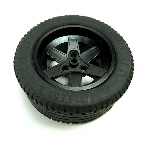 1 x Lego Technic Räder Rad Felge schwarz 56mm D. x 34mm Technik 81.6 x 34 ZR Racer 2997 44772