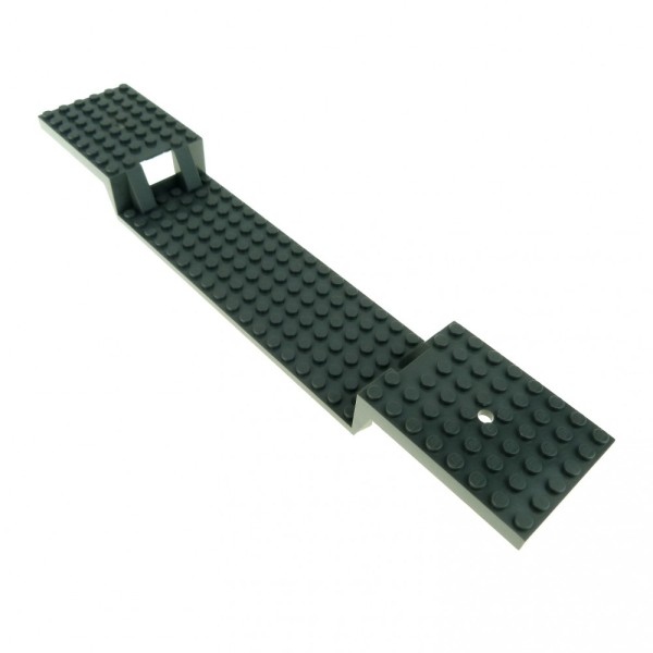 1 x Lego System Fahrgestell Platte neu-dunkel grau 6 x 34 ohne Boden Röhren Auflieger Eisenbahn Wagon Train Base Chassis 87058