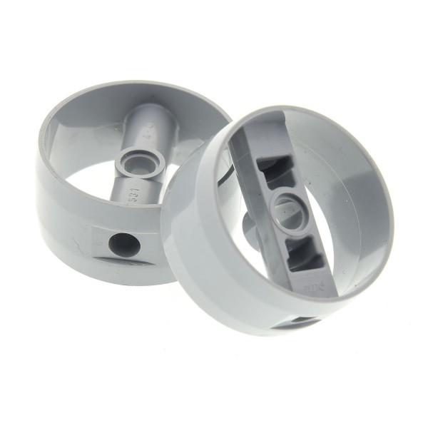 2 x Lego Technic Zylinder neu-hell grau 4x4x1 2/3 für Turbine Düse für Set Star Wars 75106 7776 10240 6873 75144 75084 4507052 41531