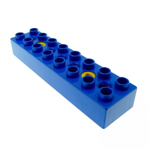 1 x Lego Toolo Duplo Stein Arm Baustein Verbinder blau 2x8 2 x 8 mit 2 Schrauben 31036c01