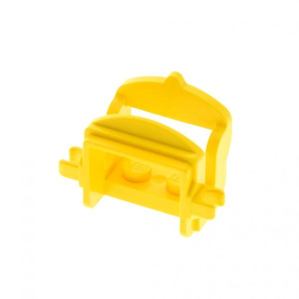 1 x Lego System Tier Pferd Sattel gelb mit 2 Clips Pferdesattel Indianer Western Reiter Hof Castle Ritter 4491b