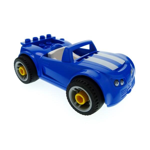 1 x Lego Duplo Toolo Auto blau weiss Cabrio Räder zum Abschrauben Fahrzeug für Set Werkstatt 5640 85345 31350c01 4544890 85353c02pb01