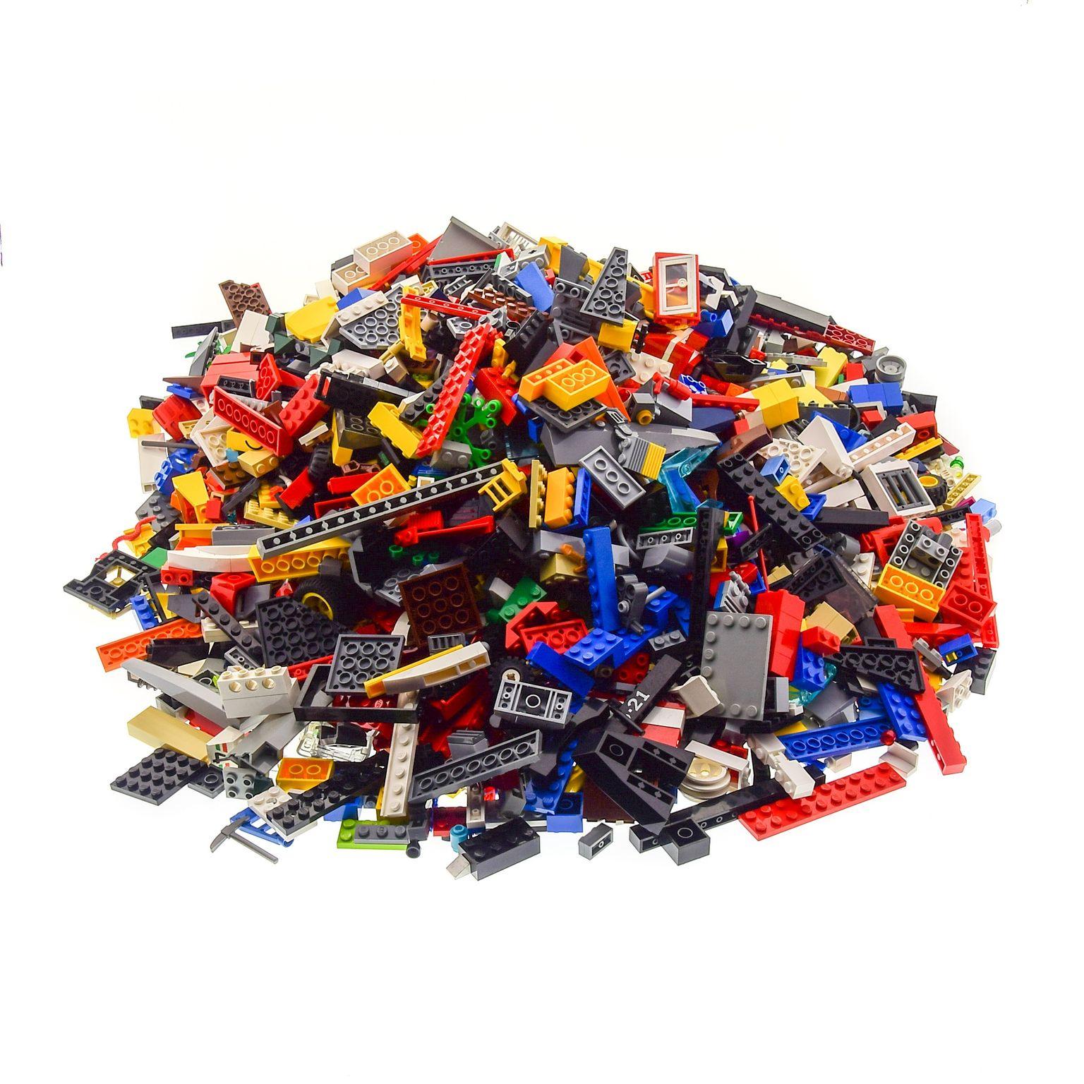 3 Kg LEGO KILOWARE STEINE PLATTEN RÄDER SONDERSTEINE GEMISCHT GEBRAUCHT