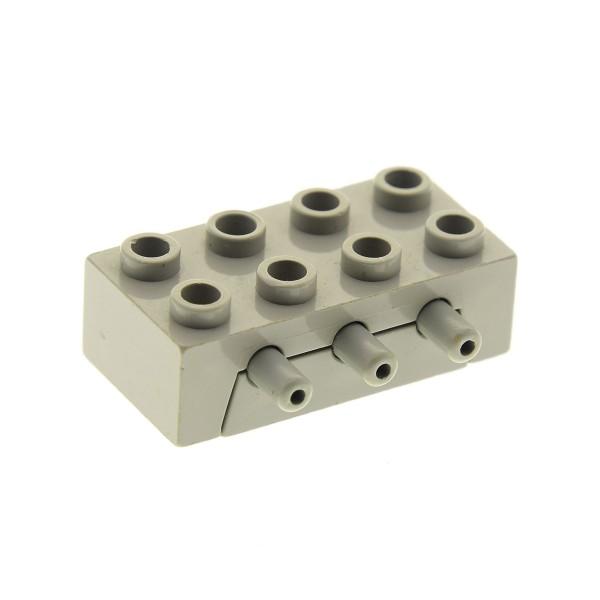 1 x Lego Technic Pneumatic Verteiler Block alt-hell grau 3 Wege Rückschlagventil Ventil Pneumatik Model Construction 8851 8843 8680 8040 4692