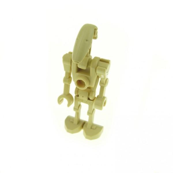 1 x Lego System Figur Droide beige Star Wars Battle Kampf Droid mit 1 Arm gerade für Set 7662 30377 59230 30376 30378 30375 sw001c