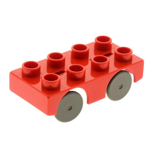 1 x Lego Duplo Auto rot 2x4 Unterbau Post Wagen PKW Fahrzeug Autobahn Rennbahn Hochbahn 9077 4964 4662 4249064 31202c01