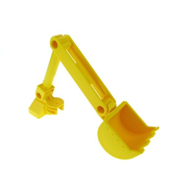 1 x Lego Duplo Bau Fahrzeug Greifarm gelb für Baggi Bob der Baumeister Figur Bagger Schaufel Scoop 4153501 40642 40643 40636 40644