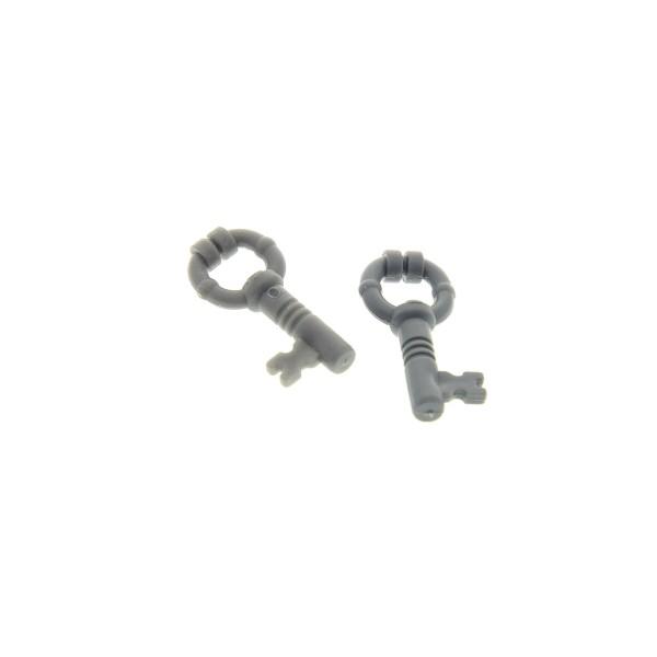 2 x Lego System Schlüssel neu-dunkel grau klein Figuren Zubehör Key Harry Potter Set 4842 70404 10217 4287814 40359a 40236a