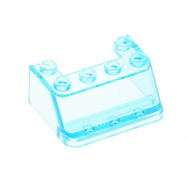 1 x Lego System Windschutzscheibe transparent hell blau 3 x 4 x 1 1/3 Ufo Mars Space Star Wars Kanzel Cockpit Kuppel Fenster Set 6392 6368 4010 4866