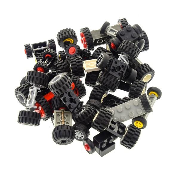 30 Achsen mit 60 Rädern Rad Räder Form und Farbe zufällig gemischt Lego