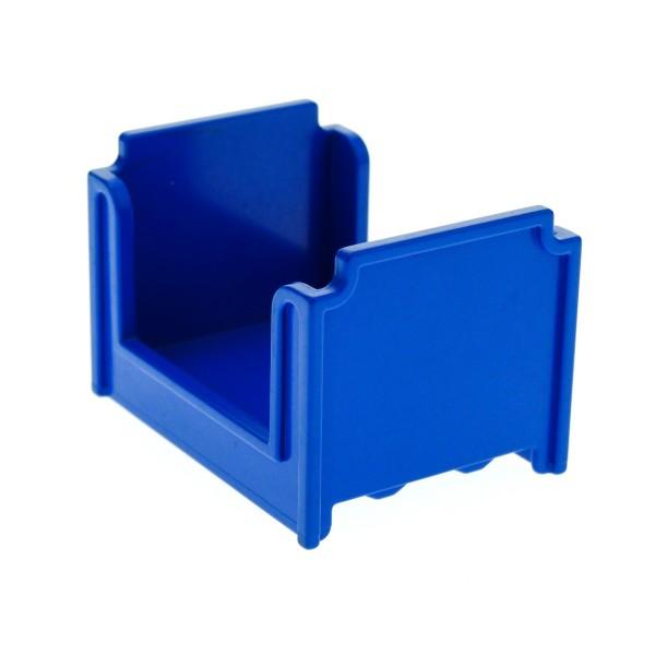 1 x Lego Duplo Möbel Bett blau Puppenhaus Schlafzimmer Puppenbett 4886