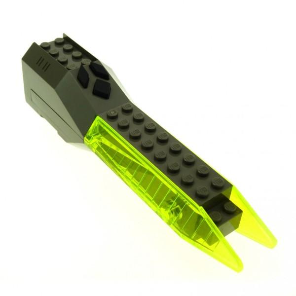 1 x Lego System Electric Sound & Light Modul alt-dunkel grau transparent neon grün 4x20x5 Licht Geräusch Space Insectoids geprüft Set 6977 6969 6909 x239