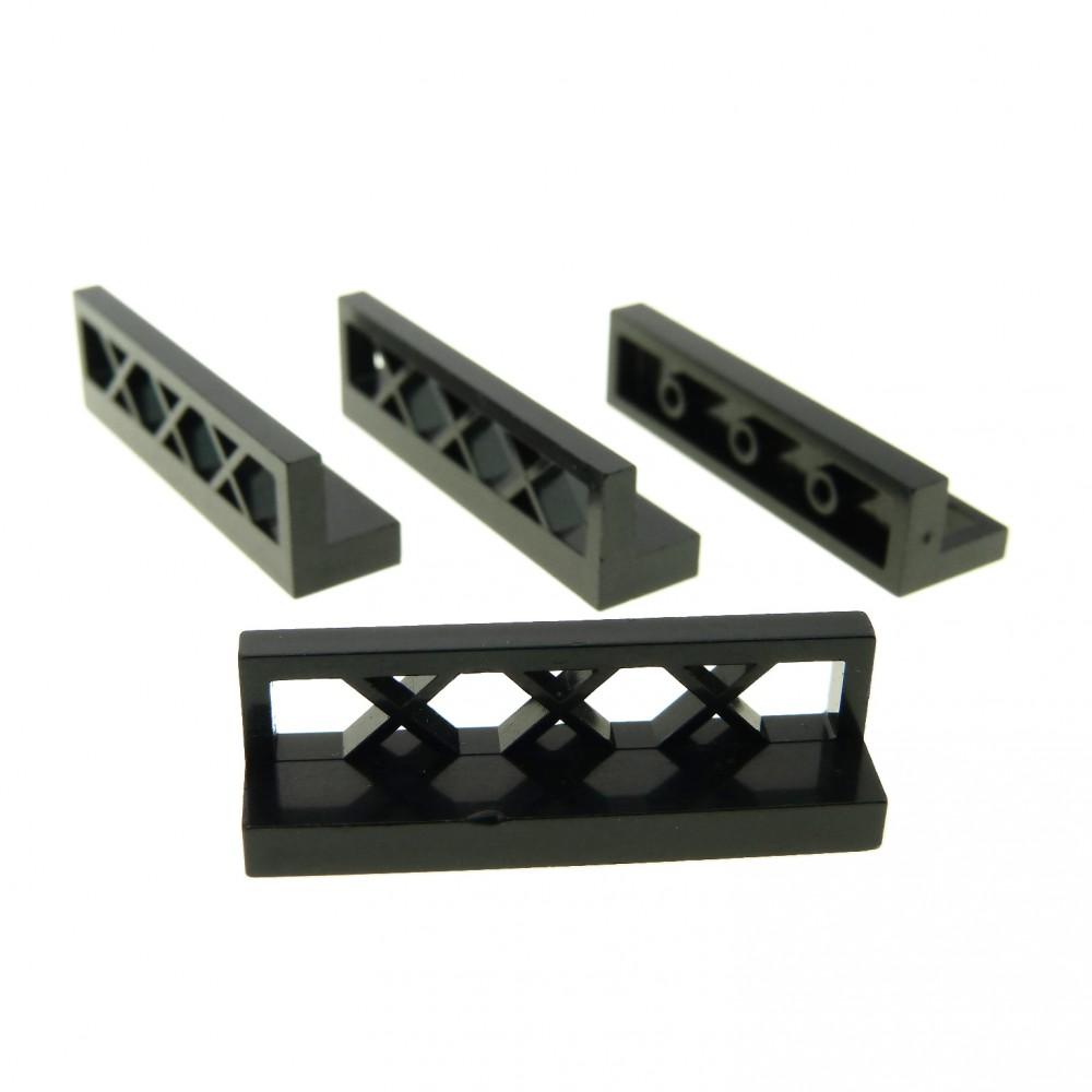 LEGO 15 x System Zaun Gatter Zäune schwarz black fence 3633 4187209