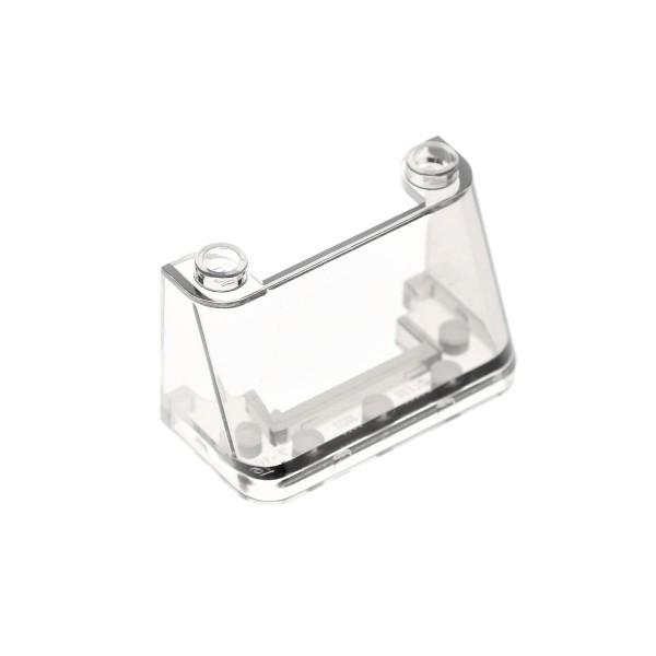1x Lego Windschutzscheibe transparent weiß 2x4x2 Fahrzeug Fenster 35260 3823