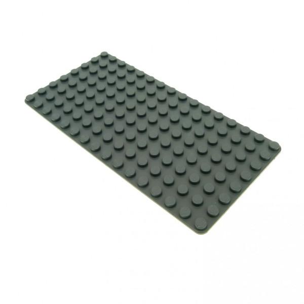 1x Lego Bau Platte neu-dunkel grau 16x8 flach Grundplatte Straße 4226978 3865