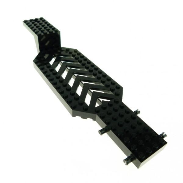 1 x Lego System LKW Auflieger schwarz 8x30x3 1/3 Chassis Unterbau Fahrgestell Trailer Anhänger Tieflader Base Set 4607 4622 30620