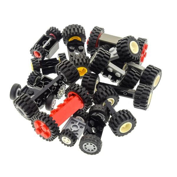 15 Achsen mit 30 Rädern Auto Fahrzeug Rad Räder Form und Farbe zufällig gemischt Lego