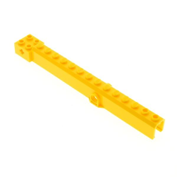 1 x Lego System Kran Arm gelb Ausleger 16L Pinn Löcher in der Mitte Container Stacker 4611679 4499427 57779