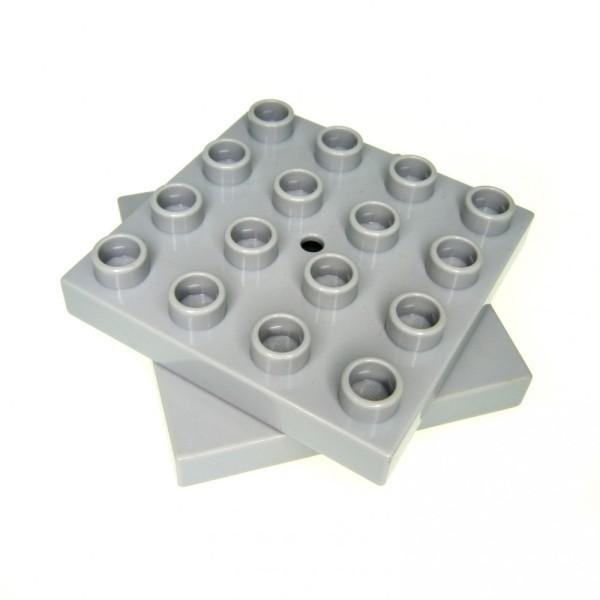1 x Lego Duplo Dreh Platte neu-hell grau 4 x 4 Stein Drehscheibe Kran 4988 59713c01