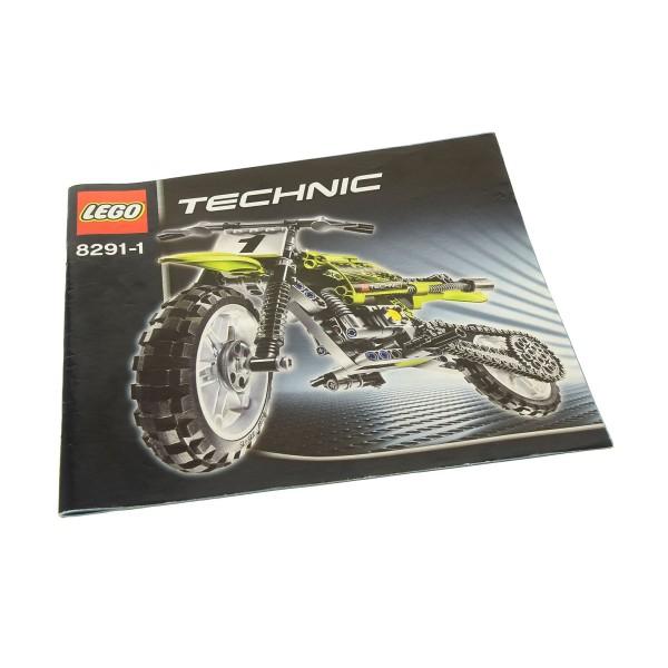 1 x Lego Technic Bauanleitung Heft 1 Model Riding Cycle Dirt Bike Motorrad 8291
