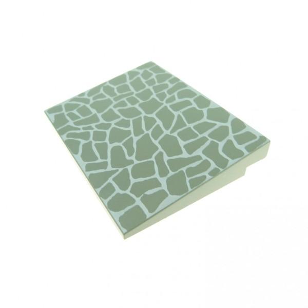 1 x Lego System Dach Stein alt-hell grau 6 x 8 bedruckt Stein Muster Flach Rampe Schräg Fliese Platte Set 6552 6419 6405 4515p03