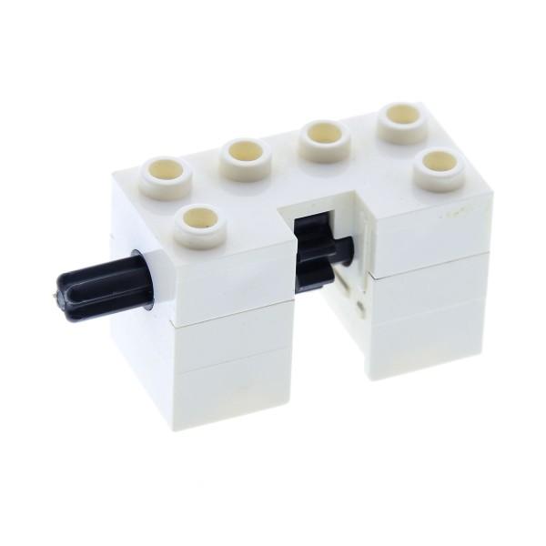 1 x Lego Technic Winde weiss mit Kurbel Stange Zahnrad für Zahnstange Set 6953 6990 2426c01