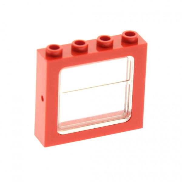 1 x Lego System Fenster Rahmen rot transparent weiss 1x4x3 Zug Eisenbahn Haus Waggon Lok Harry Potter train 4100371 4034 4033