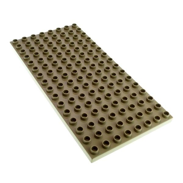1 x Lego Duplo Bau Basic Platte dunkel beige tan ocker 16 x 8 Noppen 8x16 für Set Zirkus 5593 Castle 4777 Eisenbahn 3778 4251261 61310 6490