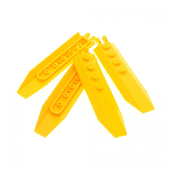 4 x Lego System Flügel Platte gelb 1x8 Propeller Rotoren Klappe Scharnier abgewinkelten Seiten Star Wars Triebwerk Klappen Set 7131 7712 30407