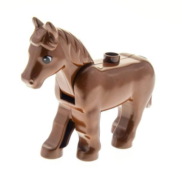 1 x Lego Duplo Tier Pferd braun Stute Hengst groß Zoo Zirkus Bauernhof Reitstall Western 2433 horse02c01pb03