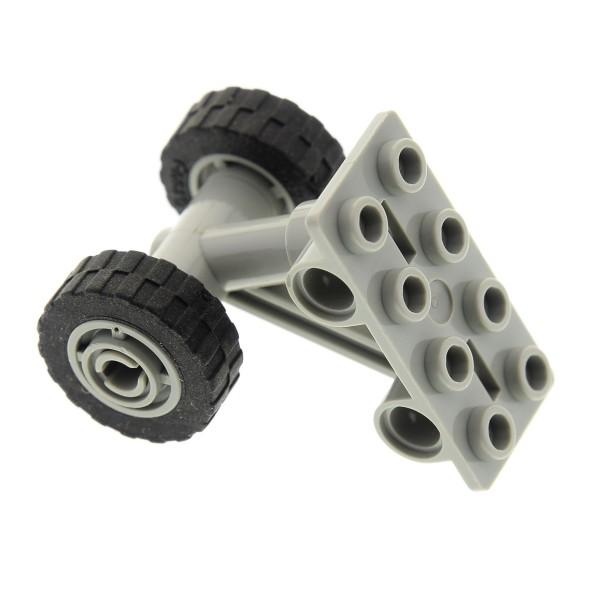 1 x Lego System Achse alt-hell grau 2x4 Flugzeug Fahrwerk Platte mit Rad Räder 11mm D. x 8mm Reifen 17.5mm D. x 6mm 42608 42610c04
