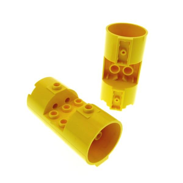 2 x Lego System Zylinder gelb 3 x 6 x 2 2/3 3x6x2 2/3 Noppen leer Turbine Triebwerk Düse Star Wars 30360