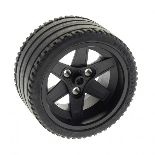 1 x Lego Technic Rad schwarz 68.8 x 36 ZR Felge schwarz 56mm D. x 34mm (3 Pin) für Set 8653 8145 8157 8682 8146 ( 44772 / 44771 ) 44772c01