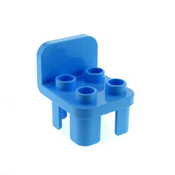 1 x Lego Duplo Stuhl hell blau 4 Noppen Stühle Sitz Lehne rund Küche Wohnzimmer Schlafzimmer Puppenhaus Möbel Set 10595 10822 10505 10587 6025374 12651