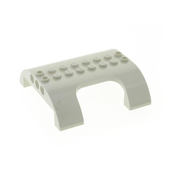 1 x Lego System Dach Flugzeug creme weiss 8x8x2 mit Tür Fenster Öffnung Ausschnitt 7894 3182 54096