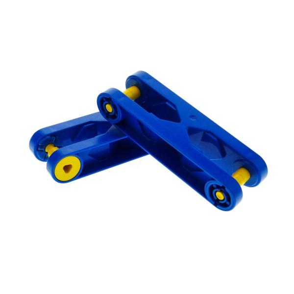 2 x Lego Duplo Toolo Stein Arm blau 2 x 6 2x6 kurz Baustein Verbindung Verbinder 6279c01