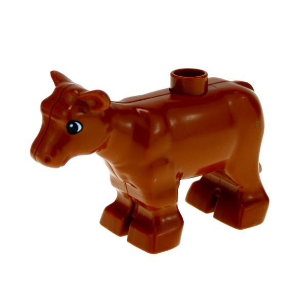 1 x Lego Duplo Tier Kalb dunkel orange braun kleine Kuh Kälbchen Bauernhof Zoo Zirkus 4972 4112124 6679