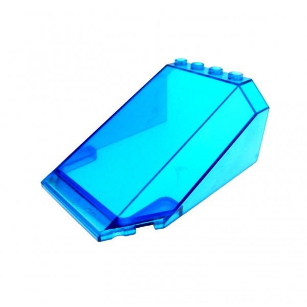 1 x Lego System Windschutzscheibe transparent dunkel blau 8x6x3 Ufo Mars Space Star Wars Kanzel Cockpit Kuppel Fenster 32086 551