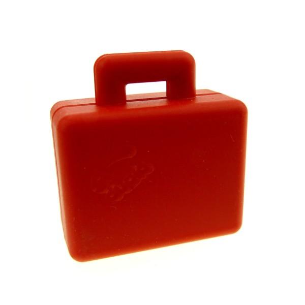 1 x Lego Duplo Koffer rot Figur Zubehör Puppenhaus Möbel Reise Tasche Suitcase 5636 5609 4100725 6427