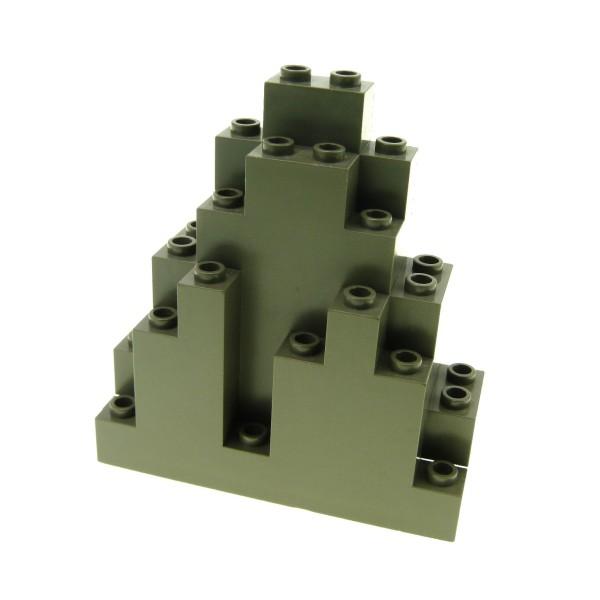 1 x Lego System Fels alt-dunkel grau Felsen Panele Berg Stein Rock Mauer Wand Burg Castle Harry Potter 6083