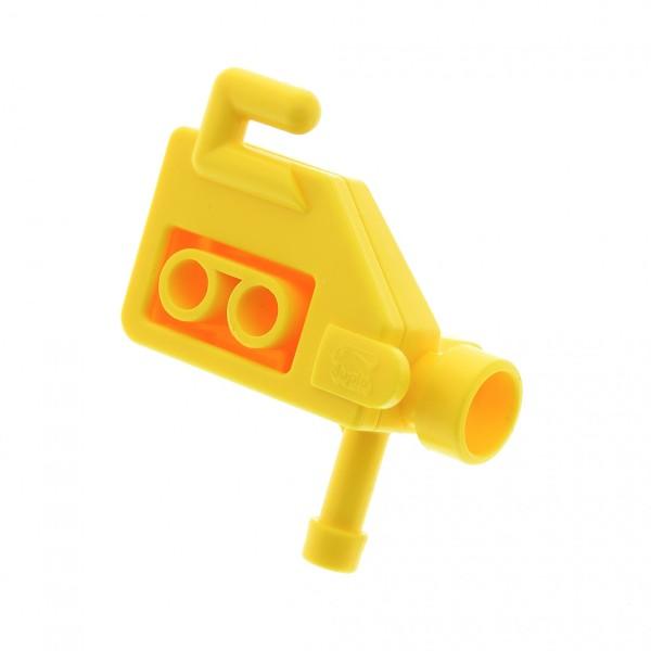 1 x Lego Duplo Kamera gelb Video Film Figur Zubehör Puppenhaus Möbel Camera Set 3621 6504
